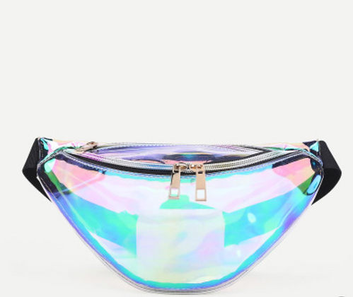 Iridescent See Through Fanny Pack