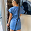 Thumbnail: Ruffle Trim Belted Denim Dress