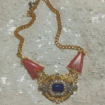 Vintage Bejeweled Statement Necklace