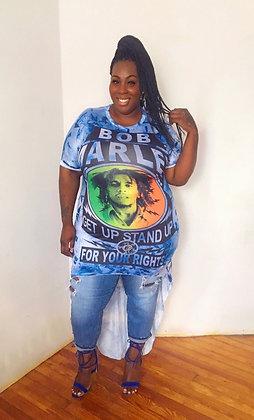 Asymmetrical Bob Marley Top