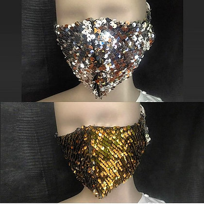 Double-sided Silver Gold Sequin