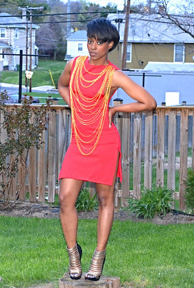 Gold Chain Party Dress