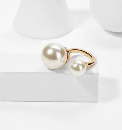 Duo Pearl Ring