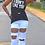 Thumbnail: White Flare Leg Distressed Jeans