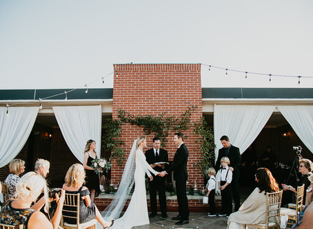 Historic Downtown Lewisville Elopement// Royal Affairs Ballroom rooftop// Stacy + Kyle