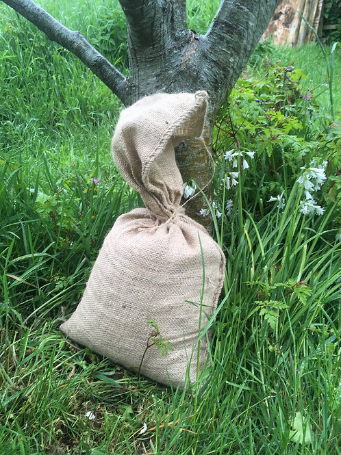 Organic Poultry manure in Biodegradable hessian sack.