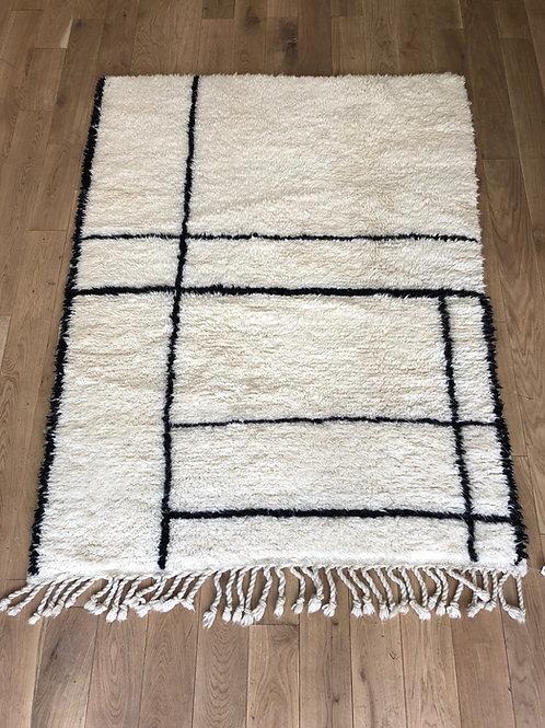 Tapis berbère noir et blanc 160x130cm