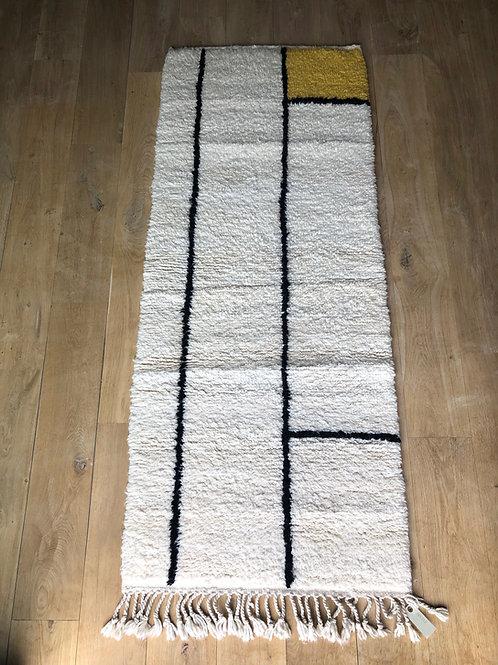 Tapis berbère de couloir coloré