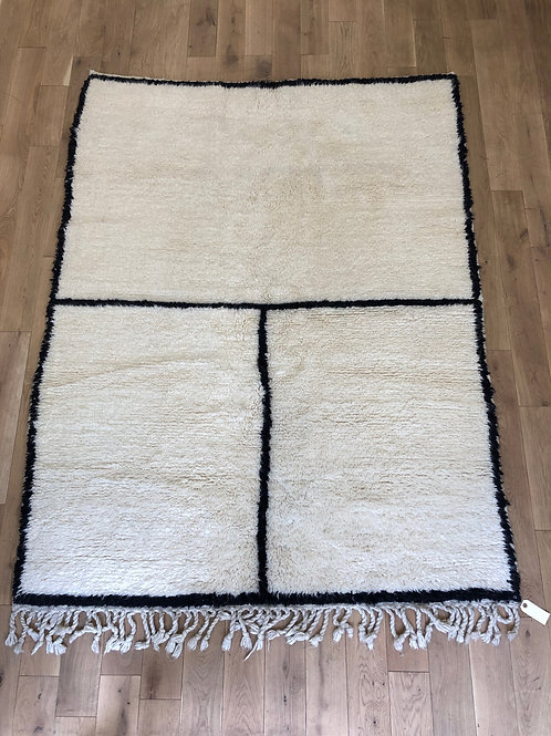 Tapis berbère noir et blanc 200x150 cm