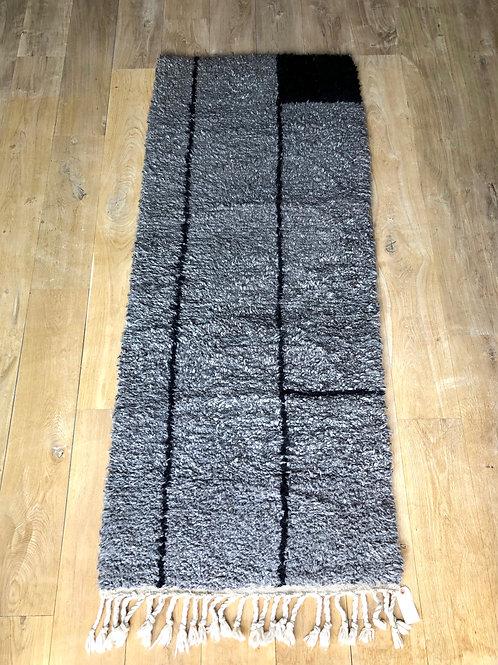Tapis de couloir berbère gris chiné