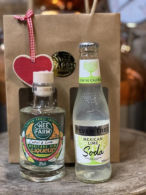 Chilli & Lime Gin Liqueur & Soda Gift Bag
