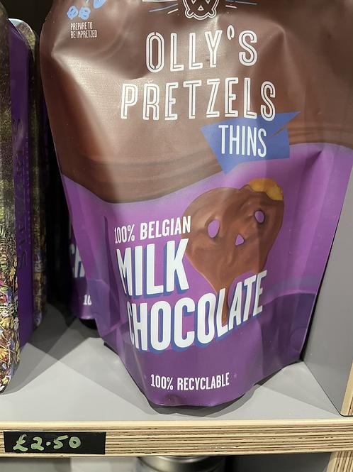 Belgian Milk Chocolate Covered Pretzel Thins