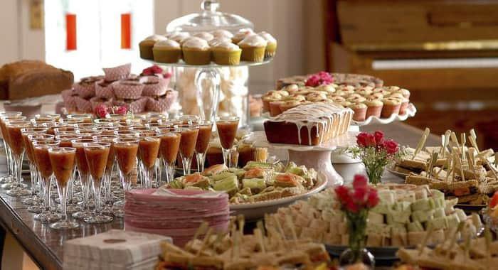 buffet tradicional ou coquetel