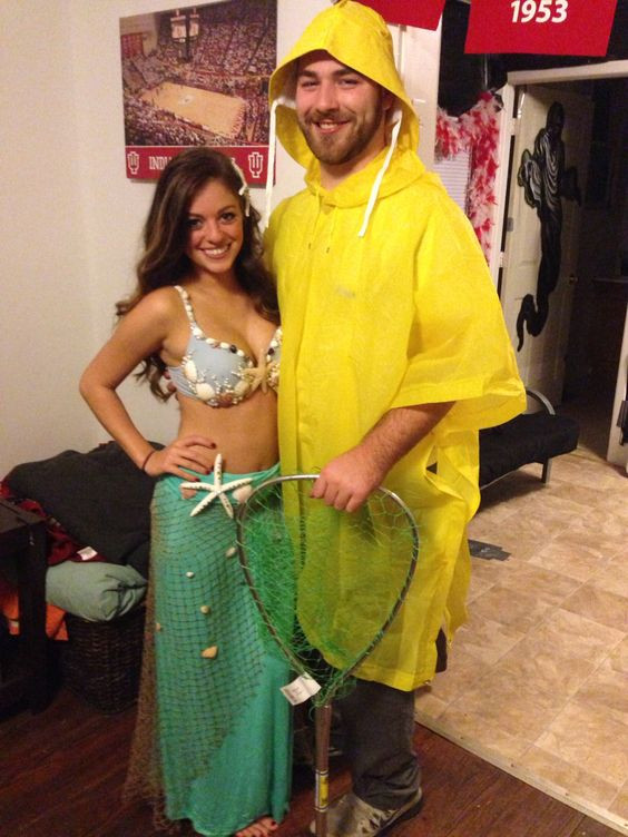 mermaid couples costume