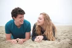 Merman and girl in love