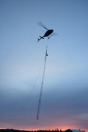 Belysningstorn helikopter