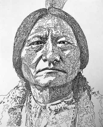 """Sitting Bull"" Original One of a Kind"