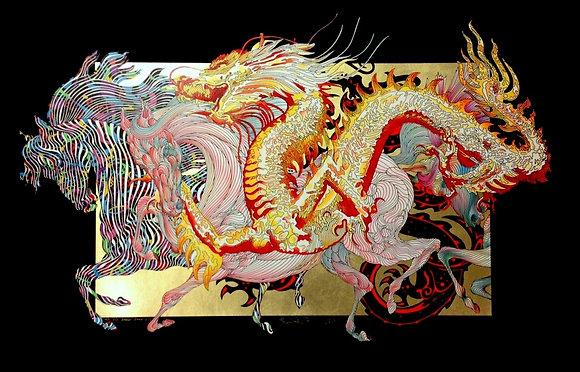 """Le Dragon D'or (Dore)"" Gold Black Paper Deluxe"