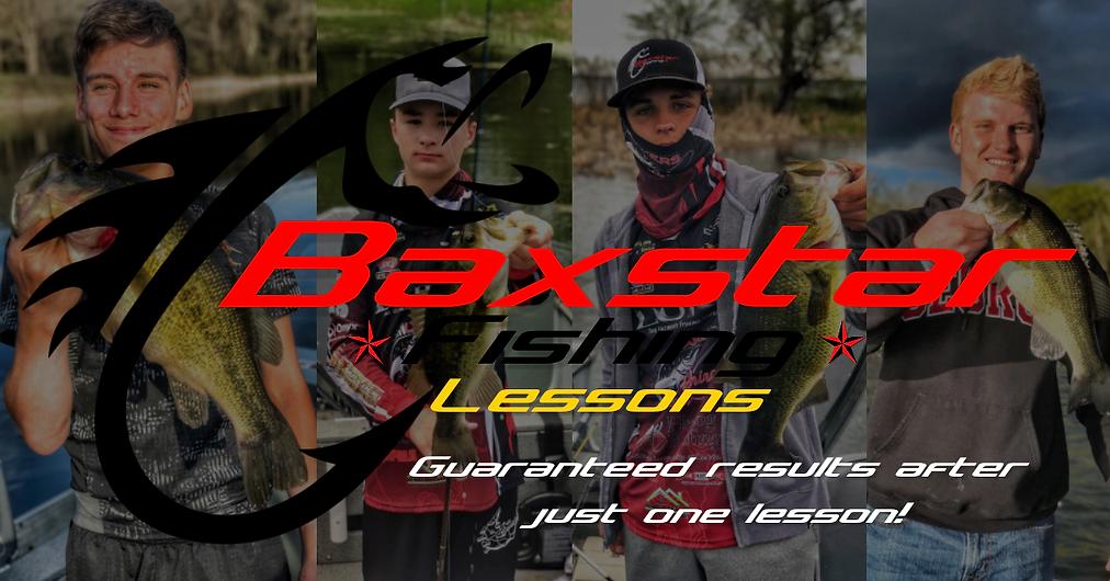 Baxstar Fishing Lessons Horizontal Logo