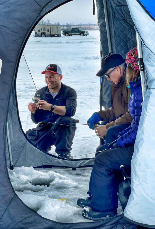 Brady teaching clients in Otter Lodge Fl