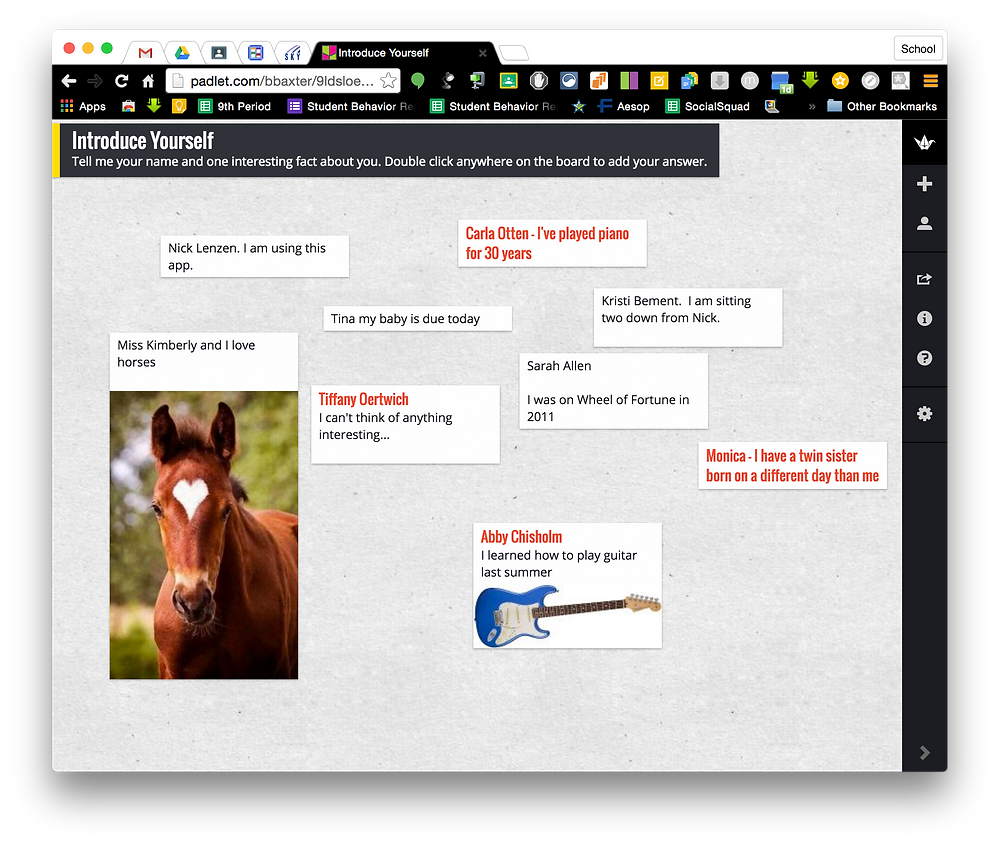 Padlet Collaboration