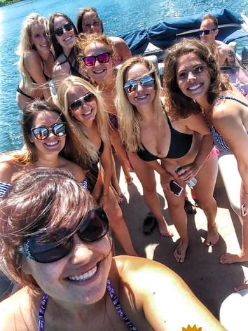 Baxstar Clients Lake Day Pontoon Rental.