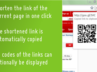 Shorten a link with one click (+QR code!)