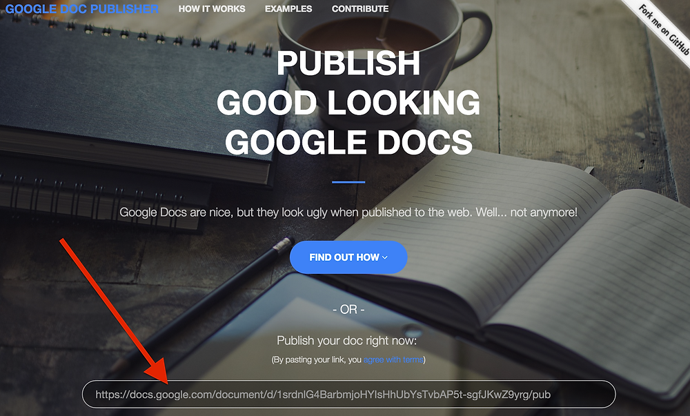 Google Docs Publisher