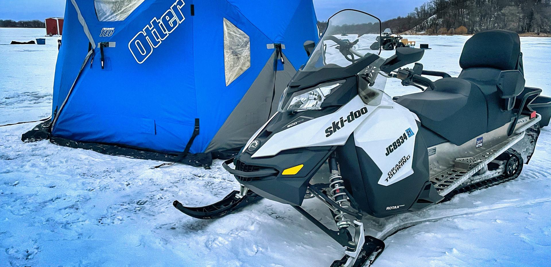 Otter Resort Hub and Ski Doo snowmobile.