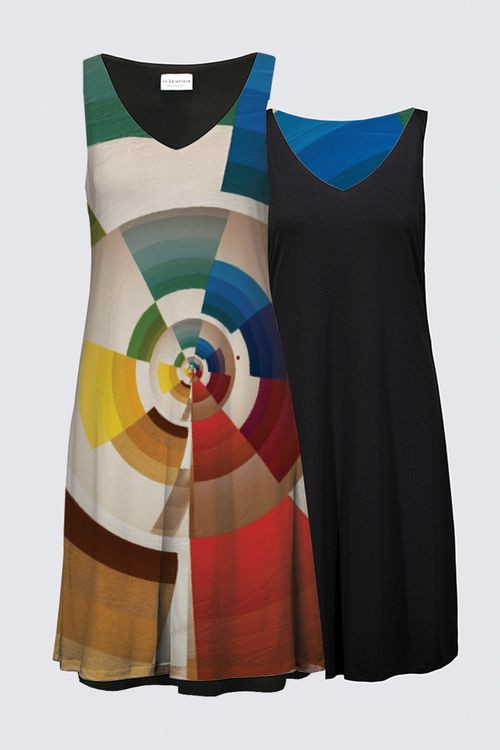 """Test Pattern"" on a dress"