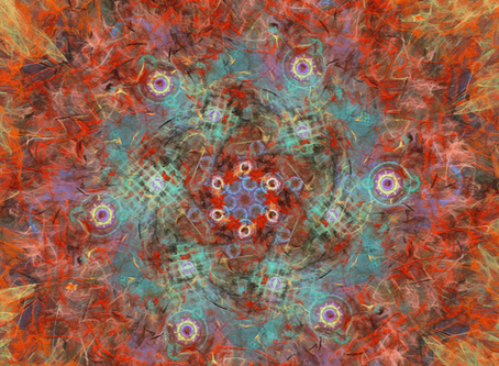 """Seeing """"Fractaling Pollock"""" in layers - the way I view my pieces in 3D"""