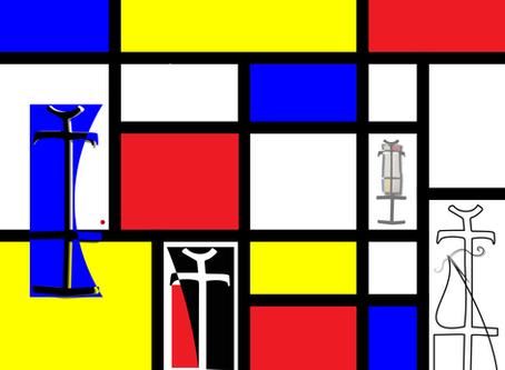 """Dressing Mondrian"" - Cerebral and Playful"