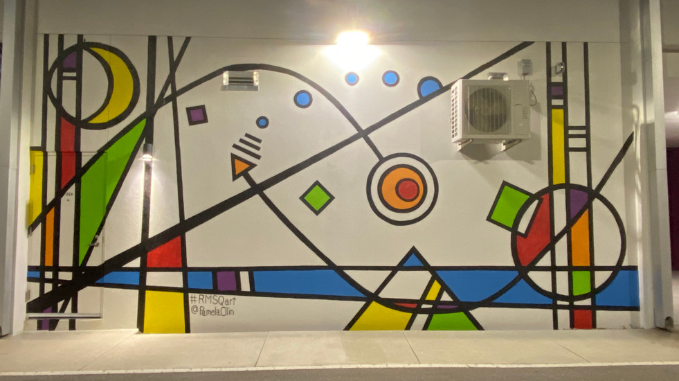 Suncoast Visions mural on Rosemary Square Building
