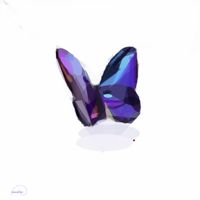 Art Glass Butterfly 100
