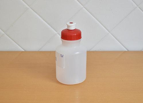 Garrafa Squeeze Pequeno com Tampa Vermelha e Bico Branco