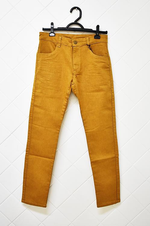 Calça Infantil Mostarda com Bolso - Tam 12 Anos