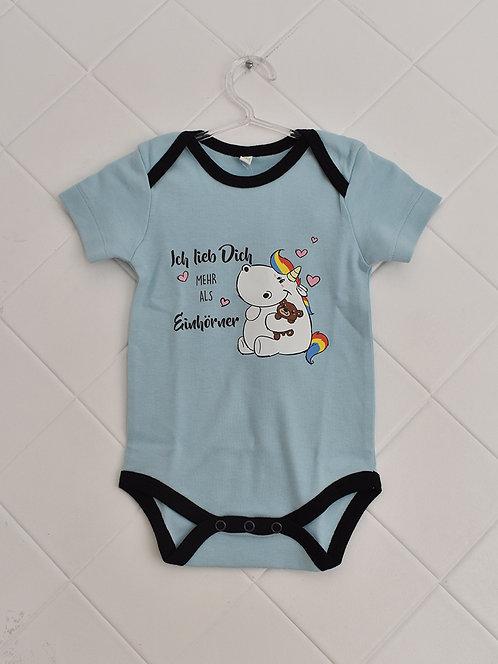 Body Bebê Claro com Estampa de Unicórnio