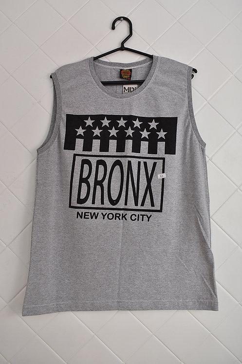 Camiseta Regata Masculina Cinza Bronx