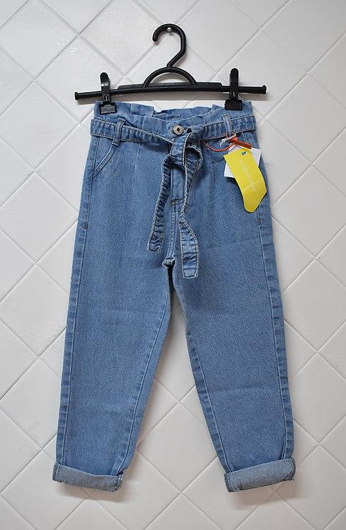 Calça Infantil Jeans com Cordão -  Tam 8 Anos