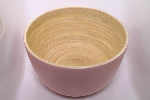 Tigela / Cumbuca de Bambu Bowl Rosa 12 cm