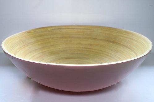Saladeira de Bambu Bowl Rosa  25 cm