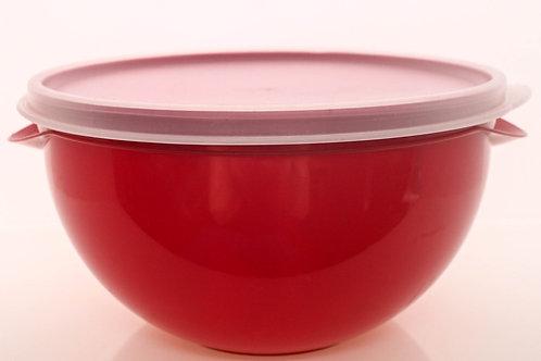 Pote Vermelho com Tampa Transparente 1 L