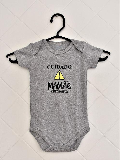 Body Bebê Cinza - Cidado Mamãe Ciumenta