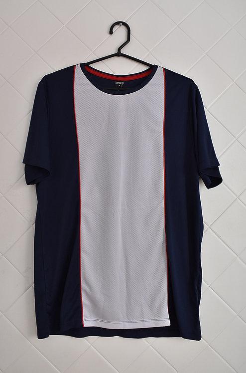 Camiseta Masculina Banca e Azul
