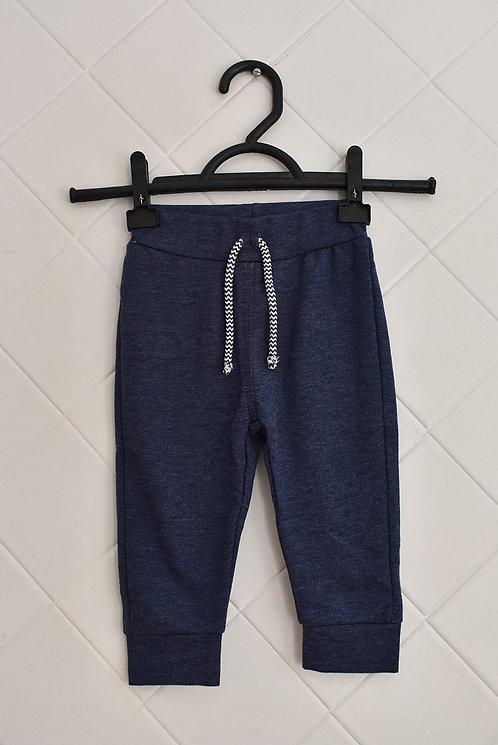 Calça Infantil de Moletom Azul Marinho com Cordão