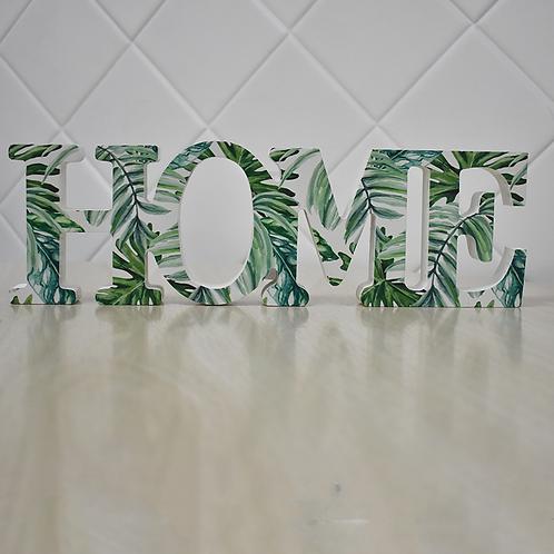 Letras Decorativa - HOME