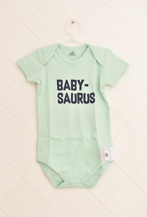 Body Bebê Verde Claro - Baby-Saurus
