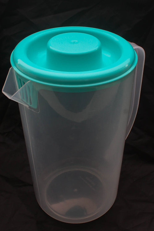 Jarra de Plástico Transparente Tampa Verde Água
