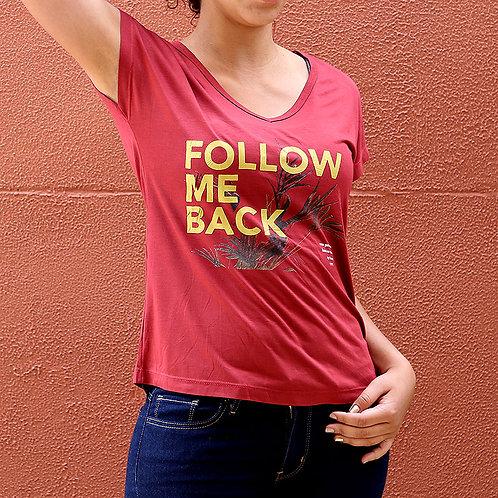 Camiseta Feminina  Follow Me Back