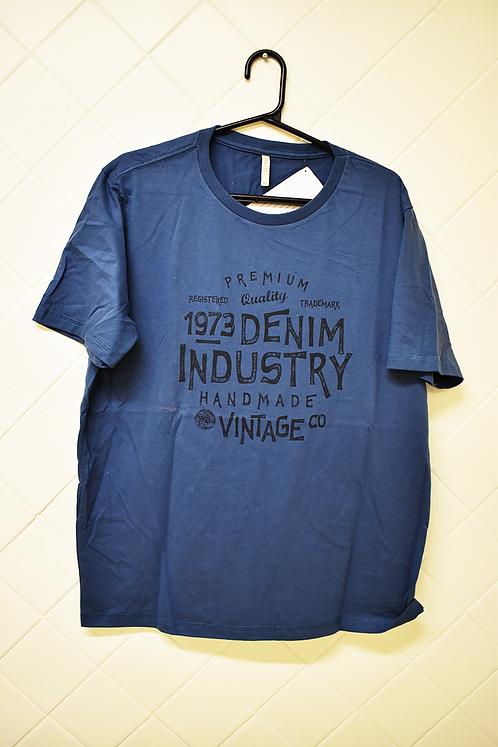 Camiseta Masculina Azul Denin Industry